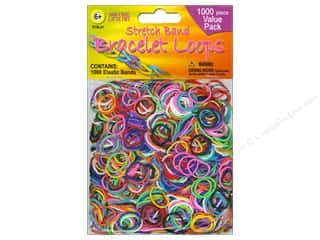 Rubber / Elastic Bands Craft & Hobbies: Pepperell Stretch Band Bracelet Loops Assorted 1000pc