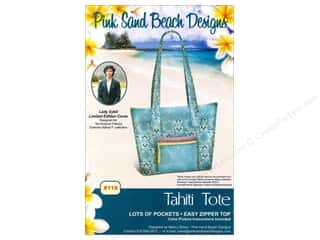 Lila Tueller Designs Tote Bags / Purses Patterns: Pink Sand Beach Designs Downton Abbey Tahiti Tote Pattern