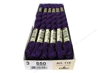 Pearl Cotton $16 - $17: DMC Pearl Cotton Skein Size 3 #550 Very Dark Violet (12 skeins)