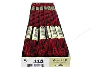 DMC Pearl Cotton Skein Size 5 #115 Variegated Garnet (12 skeins)