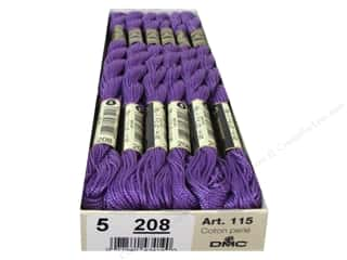 Punches Punch Embroidery: DMC Pearl Cotton Skein Size 5 #208 Pansy Lavender (12 skeins)