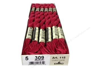 Pearl Cotton DMC Pearl Cotton Skein Size 5: DMC Pearl Cotton Skein Size 5 #309 Dark Rose (12 skeins)