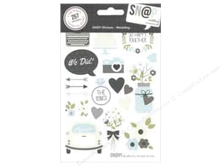 Wedding Brown: Simple Stories SN@P! Stickers Wedding