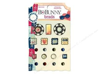 Brads Clearance Crafts: Bo Bunny Brads 19 pc. Modern Miss