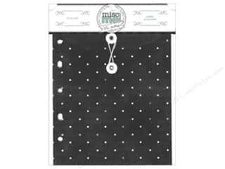 Bo Bunny Binder Refill Black Misc Me Envelopes