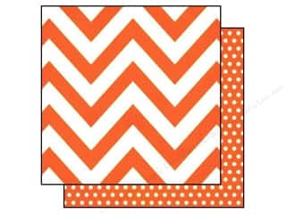 "Printed Cardstock: Simple Stories Paper 12""x 12"" DIY Boutique Chevron Orange/Dots (25 pieces)"