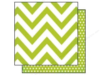 "Simple Stories Papers: Simple Stories Paper 12""x 12"" DIY Boutique Chevron Green/Dots (25 pieces)"