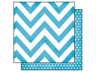 "Simple Stories Designer Papers & Cardstock: Simple Stories Paper 12""x 12"" DIY Boutique Chevron Teal/Dots (25 pieces)"