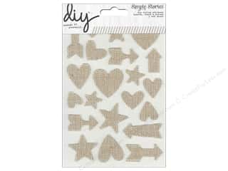 Simple Stories $15 - $20: Simple Stories Sticker DIY Burlap Hearts Stars Arrows