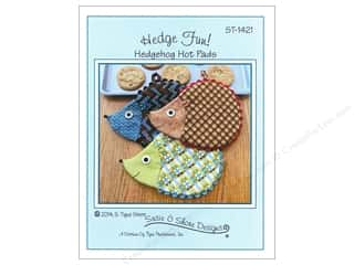 Susie C Shore Designs $2 - $5: Susie C Shore Hedge Fun! Hedgehog Hot Pads Pattern