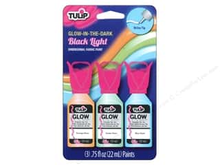 Foam Fabric Painting & Dying: Tulip Dimensional Fabric Paint Set Glow In the Dark 3pc