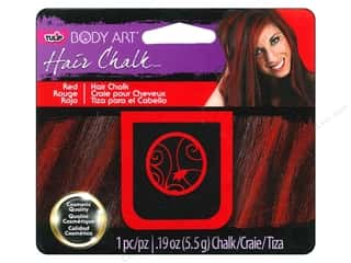 Kids Crafts Hair Accessory Making: Tulip Body Art Hair Chalk Red