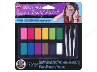 tested brown: Tulip Body Art Face & Body Paint Palette Rainbow