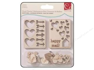 Cosmo Cricket New: Cosmo Cricket Embellishment Wood Charms Happy Mail