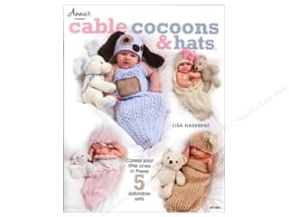 Yarn, Knitting, Crochet & Plastic Canvas Annie's Attic: Annie's Cable Cocoons & Hats Book by Lisa Naskrent