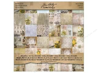 "Tim Holtz paper dimensions: Tim Holtz Idea-ology Paper Stash 12""x 12"" Wallflower"