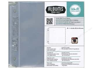"Brand-tastic Sale We R Memory Keepers: We R Memory Photo Sleeve Ring 4""x 4"" Albums Made Easy Instagram 10pc"