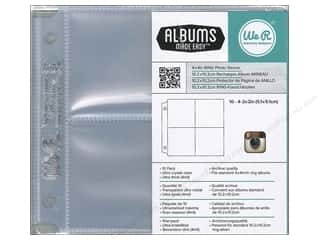 "Scrapbooking Sale We R Memory Photo Sleeves: We R Memory Photo Sleeve Ring 4""x 4"" Albums Made Easy Instagram 2""x 2"" 10pc"