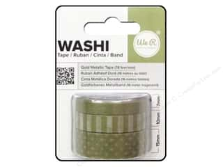 Glue and Adhesives mm: We R Memory Washi Tape 7mm,10mm & 15mm Metallic Gold