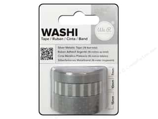 Glues, Adhesives & Tapes mm: We R Memory Washi Tape 7mm,10mm & 15mm Metallic Silver