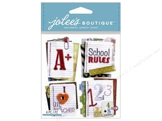 Foam Back to School: Jolee's Boutique Stickers Stitched Notebook Paper Words