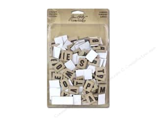 Tim Holtz Paper Die Cuts / Paper Shapes: Tim Holtz Idea-ology Alpha Chips Elementary