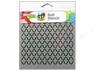 Grout: The Crafter's Workshop Template 6 x 6 in. Quatrefoil Reversed