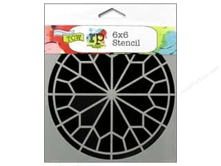 Clearance The Crafters Workshop Template: The Crafter's Workshop Template 6 x 6 in. Rose Window