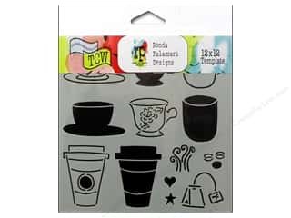 Tea & Coffee inches: The Crafter's Workshop Template 12 x 12 in. Cafe Latte