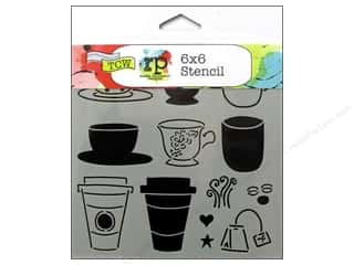Tea & Coffee inches: The Crafter's Workshop Template 6 x 6 in. Cafe Latte