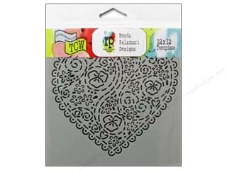 The Crafter's Workshop Template 12 x 12 in. Embroidered Heart