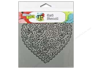 The Crafters Workshop Template 6x6 Emb Heart