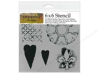 Crafter's Workshop, The The Crafters Workshop Stencil: The Crafter's Workshop Template 6 x 6 in. Gothic Romance