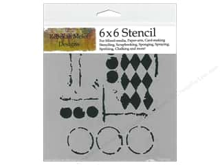 Crafter's Workshop, The: The Crafter's Workshop Template 6 x 6 in. Harlequin Circles