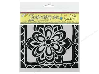 Crafter's Workshop, The Borders: The Crafter's Workshop Template 6 x 6 in. Zen Flower