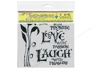 Crafter's Workshop, The The Crafters Workshop Stencil: The Crafter's Workshop Template 6 x 6 in. Live Love Laugh