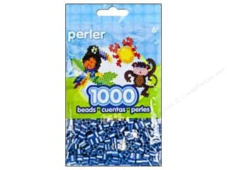 Plastics Blue: Perler Beads 1000 pc. Pearl Stripe Royal Blue