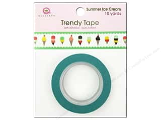Queen & Company Glue and Adhesives: Queen&Co Trendy Tape 10yd Summer Ice Cream