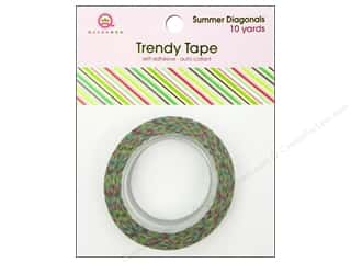 Queen & Company Brown: Queen&Co Trendy Tape 10yd Summer Diagonals
