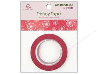 Queen & Company Glue and Adhesives: Queen&Co Trendy Tape 10yd Girl Dandelion