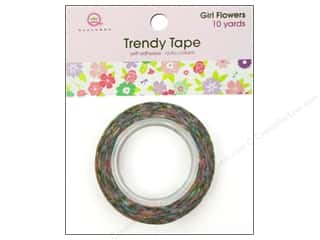 Queen & Company Glue and Adhesives: Queen&Co Trendy Tape 10yd Girl Flowers