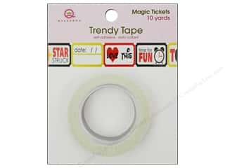 Love & Romance Glues, Adhesives & Tapes: Queen&Co Trendy Tape 10yd Magic Tickets
