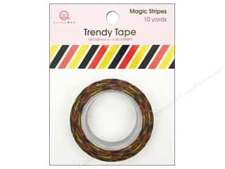Queen & Company Glue and Adhesives: Queen&Co Trendy Tape 10yd Magic Stripes