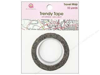 Queen & Company Glue and Adhesives: Queen&Co Trendy Tape 10yd Travel Map