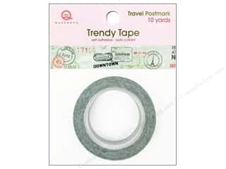 Queen & Company Glue and Adhesives: Queen&Co Trendy Tape 10yd Travel Postmark