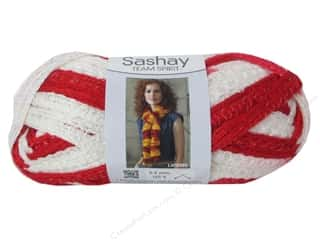 Red Heart Boutique Sashay Team Spirit: Red Heart Boutique Sashay Team Spirit Yarn #1962 Red/White 30 yd.