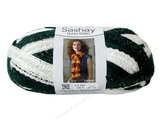 Yarn & Needlework Summer Fun: Red Heart Boutique Sashay Team Spirit Yarn 3.5 oz. Green/White