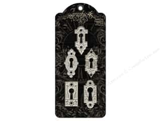 Graphic 45 $0 - $5: Graphic 45 Staples Shabby Chic Ornate Metal Key Holes