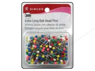 Pins Straight Pins: Singer Extra Long Ball Head Pins Size 28 300 pc.
