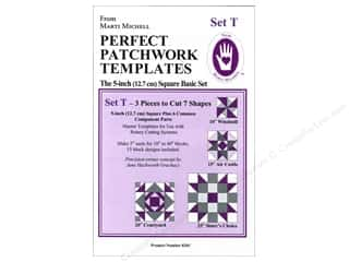 Guidelines 4 Quilting Rotary Rulers & Templates: Marti Michell Template Set T New Basic 5""